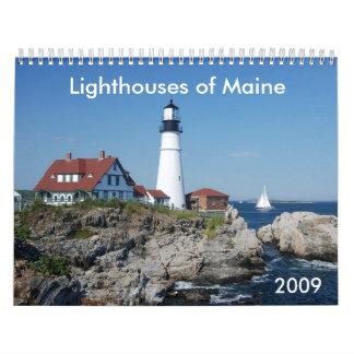 Lighthouses of Maine 2009 Calendar
