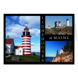 Lighthouses of Maine Card