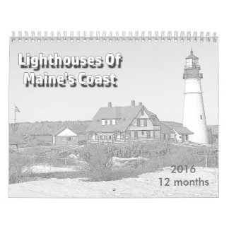 Lighthouses Of Maine's Coast Wall Calendars