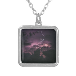 Lighting Bolt Silver Plated Necklace