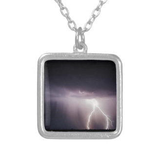 Lighting Bolt (Storm) Silver Plated Necklace
