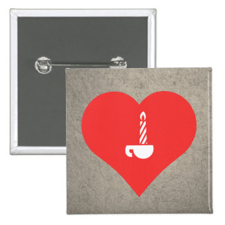 Lighting Candles Pictogram 2 Inch Square Button
