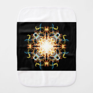Lighting mandala burp cloth