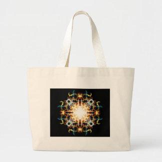 Lighting mandala large tote bag