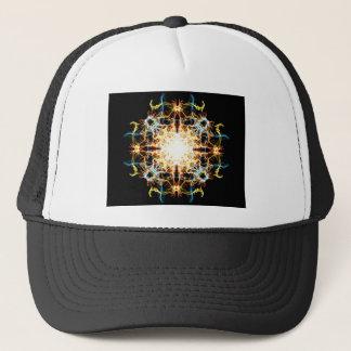 Lighting mandala trucker hat