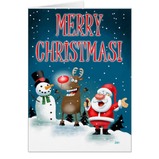 Lighting Red Noses Greeting Card