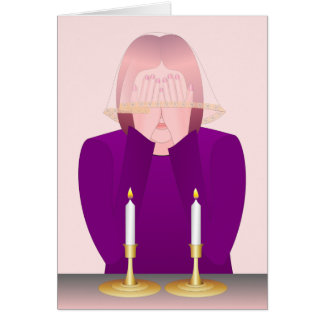 Lighting Shabbat Candles Card