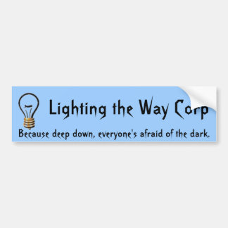 Lighting the Way Corp Bumper Sticker