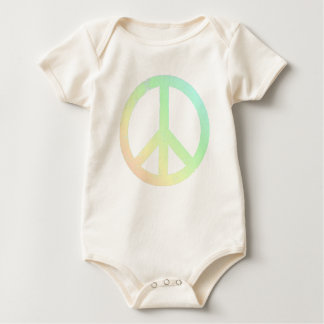 Lightly Distressed Soft Colors Peace Baby Bodysuits