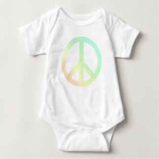 Lightly Distressed Soft Colors Peace T-shirt