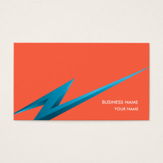 LIGHTNING3 BUSINESS CARD RED