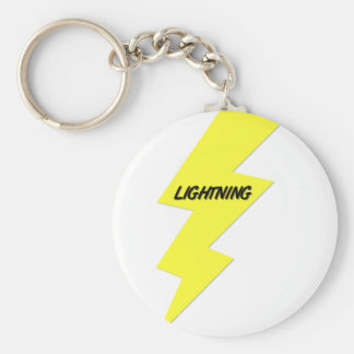 Lightning Basic Round Button Keychain