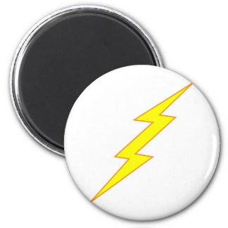 Lightning Bolt 2 Inch Round Magnet