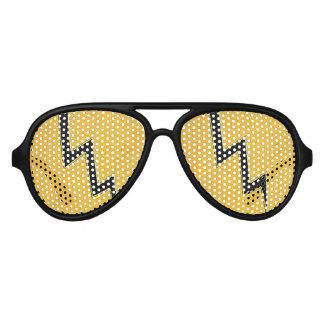 Lightning bolt aviator sunglasses