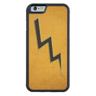 Lightning bolt carved maple iPhone 6 bumper case