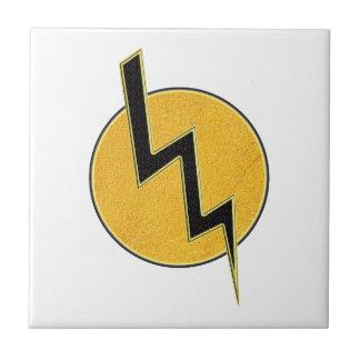 Lightning bolt ceramic tiles