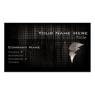 Lightning Bolt; Cool Black Double-Sided Standard Business Cards (Pack Of 100)