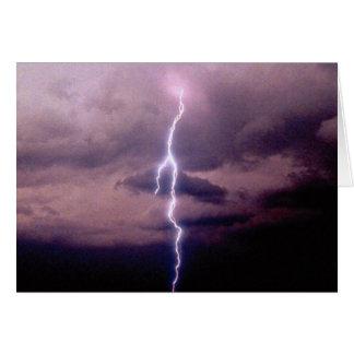 Lightning bolt during thunderstorm card