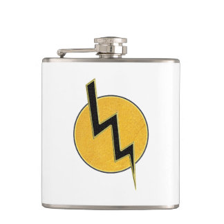 Lightning bolt hip flask