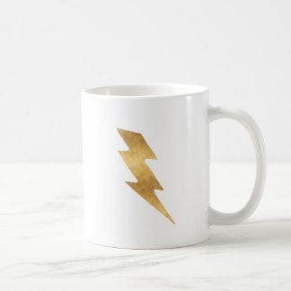 Lightning Bolt in Metallic Gold Coffee Mug