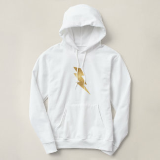 Lightning Bolt in Metallic Gold Hoodie