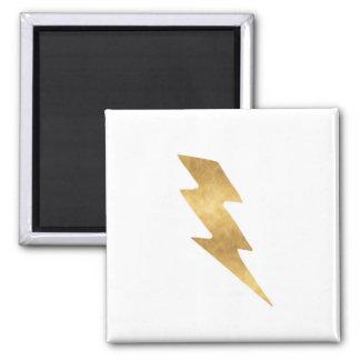 Lightning Bolt in Metallic Gold Magnet