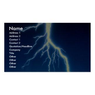 Lightning bolt over blue background business cards