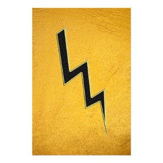 Lightning bolt photo print