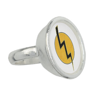 Lightning bolt photo ring