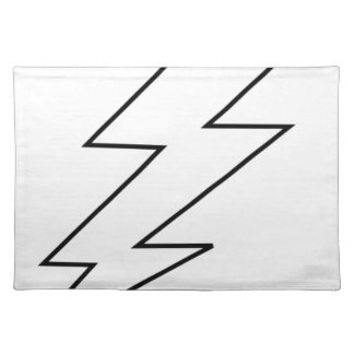 lightning bolt placemat