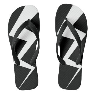Lightning Bolt Player Flip Flops