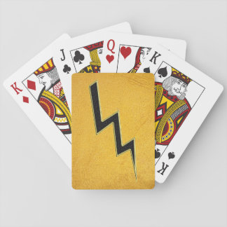 Lightning bolt playing cards