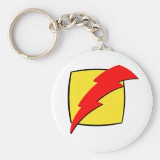 Lightning bolt retro look super hero logo keychains