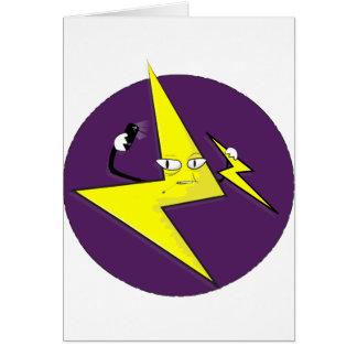 lightning bolt selfie card