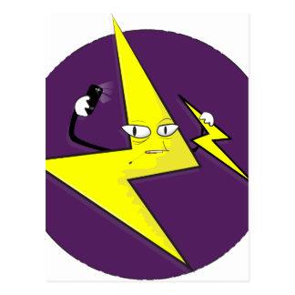lightning bolt selfie postcard
