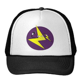 lightning bolt selfie trucker hat