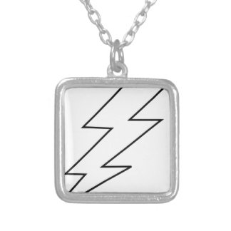 lightning bolt silver plated necklace
