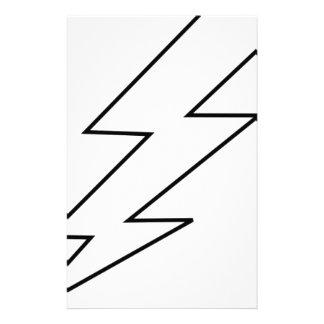 lightning bolt stationery