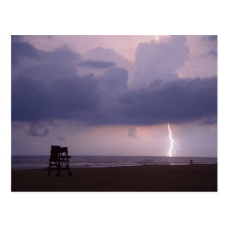 Lightning Bolt Strike Ocean Daytona Beach Postcard