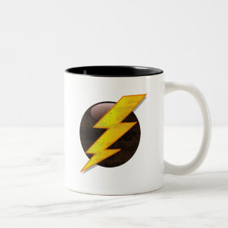 Lightning Bolt Two-Tone Coffee Mug