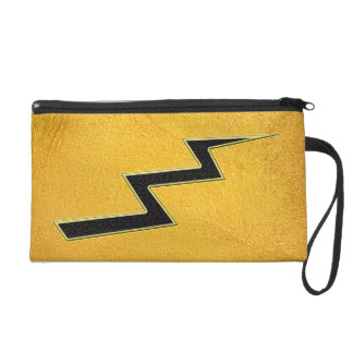 Lightning bolt wristlet