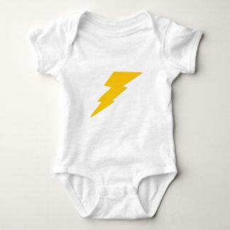 Lightning Bolt, yellow, thunder, storm, superhero Baby Bodysuit