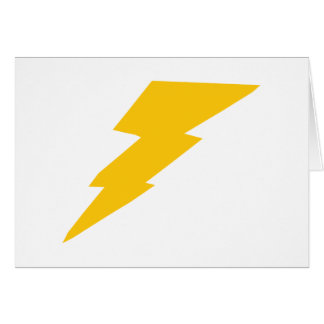 Lightning Bolt, yellow, thunder, storm, superhero Card