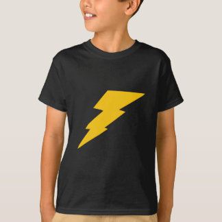 Lightning Bolt, yellow, thunder, storm, superhero T-Shirt