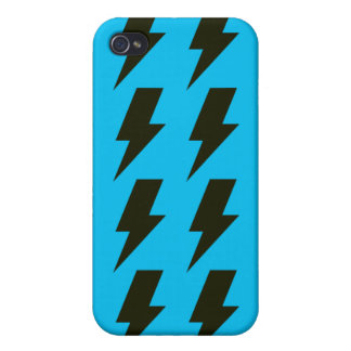 Lightning bolts blue black iPhone 4 cover