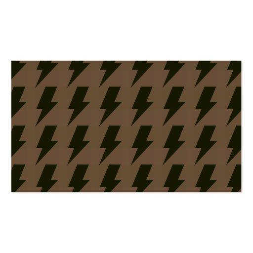 Lightning bolts brown black business cards
