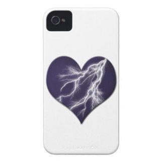 Lightning Bolts Heart Case-Mate iPhone 4 Case