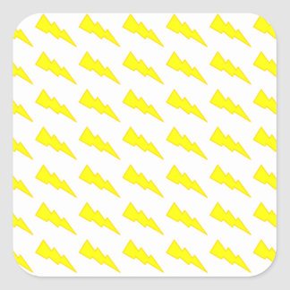 Lightning Bolts Square Sticker
