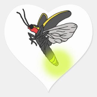 lightning bug flight 2 lit heart sticker