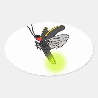 lightning bug flight 2 lit oval sticker